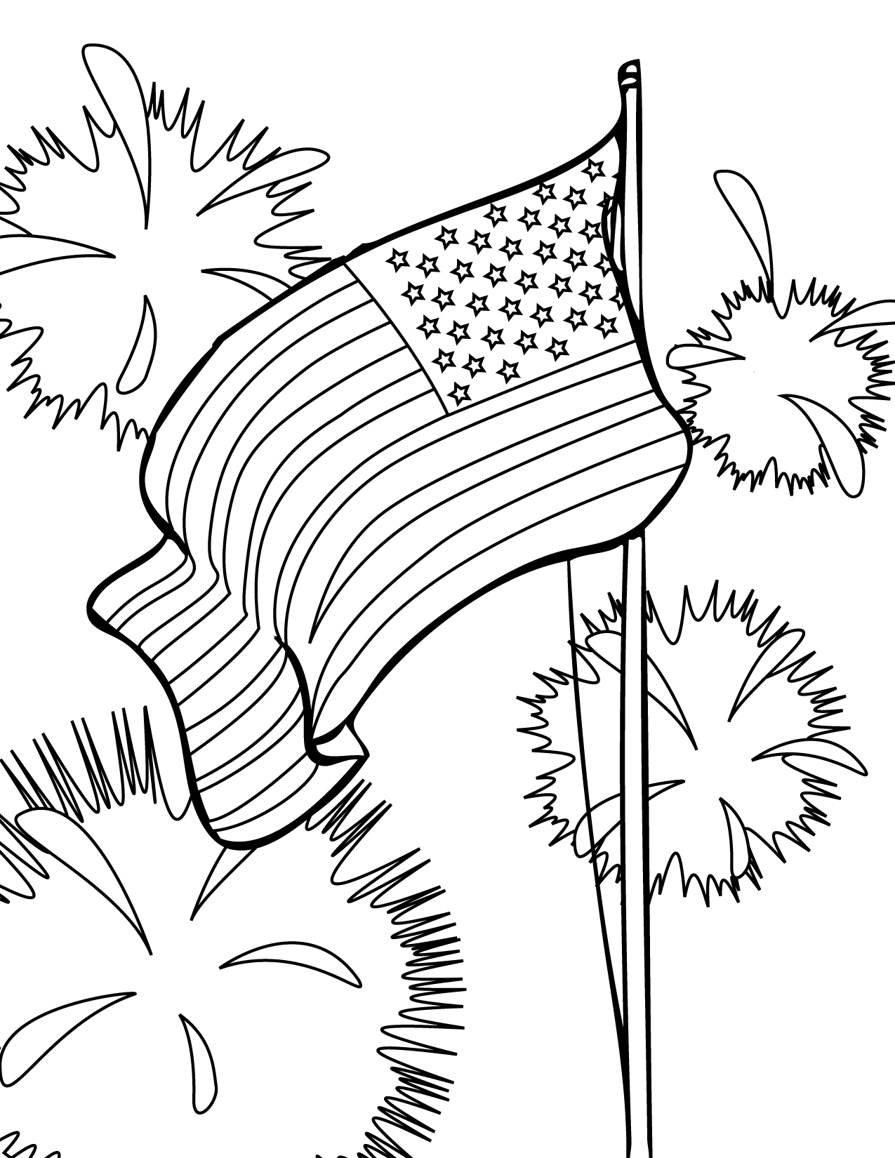 Coloring Pages 4th Of July Printable : Th of july coloring pages to print