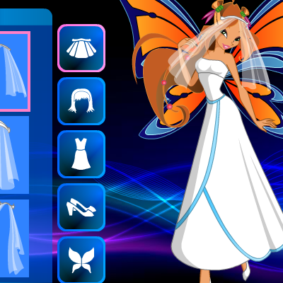 Dress Model Online Game on Winx Club Dress Up Games   Girls Page