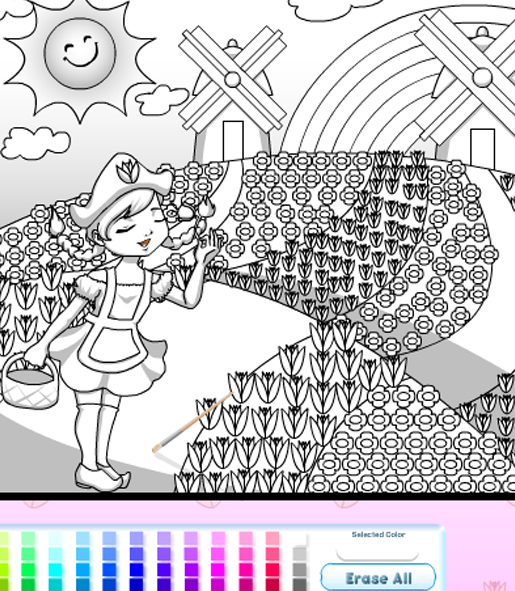 coloring games online for girls