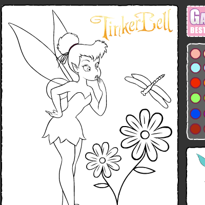tinkerbell coloring games