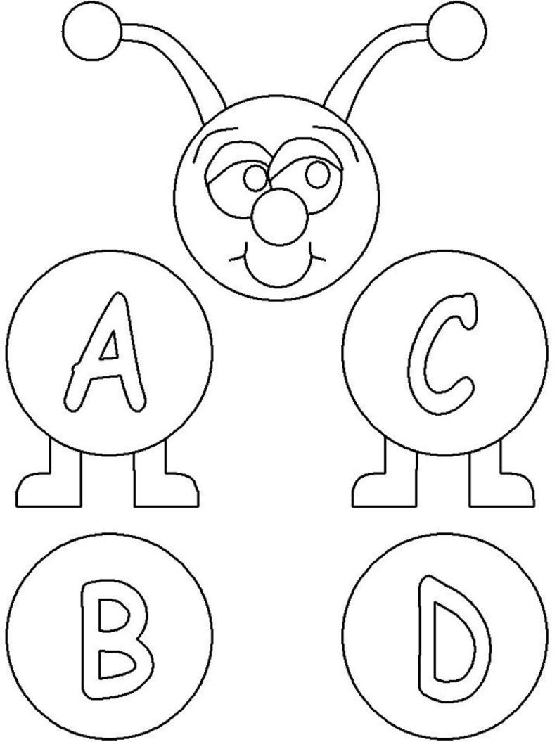 Abc Coloring Pages 4