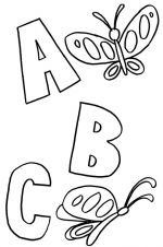 abc coloring pages butterflies