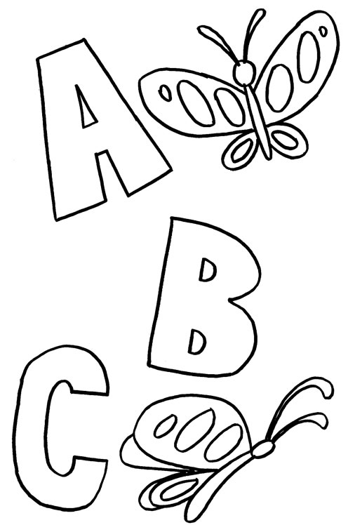 abc coloring pages butterflies abc coloring pages cat