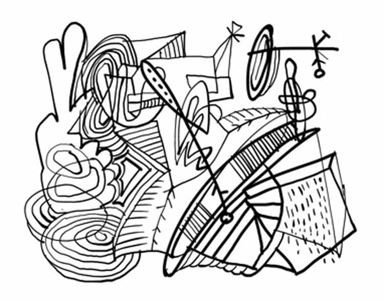 coloring pages abstract art - photo#25