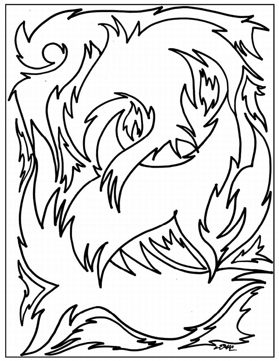 coloring pages abstract art - photo#22