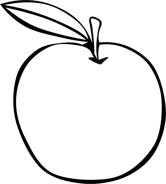 Beautiful Apple Coloring Pages With Page