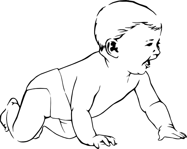 baby boy clip art coloring pages - photo #15