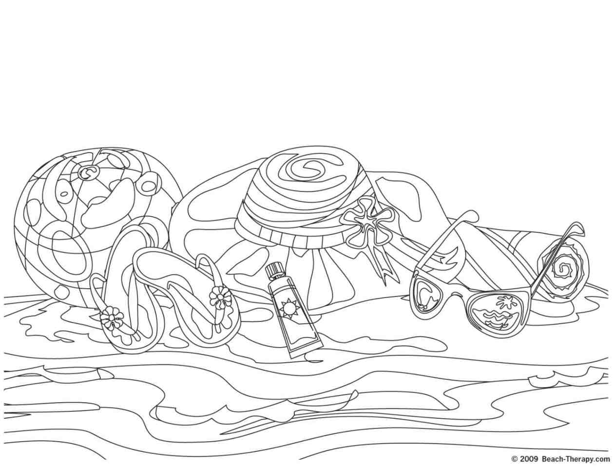 free printable beach coloring pages - photo#27