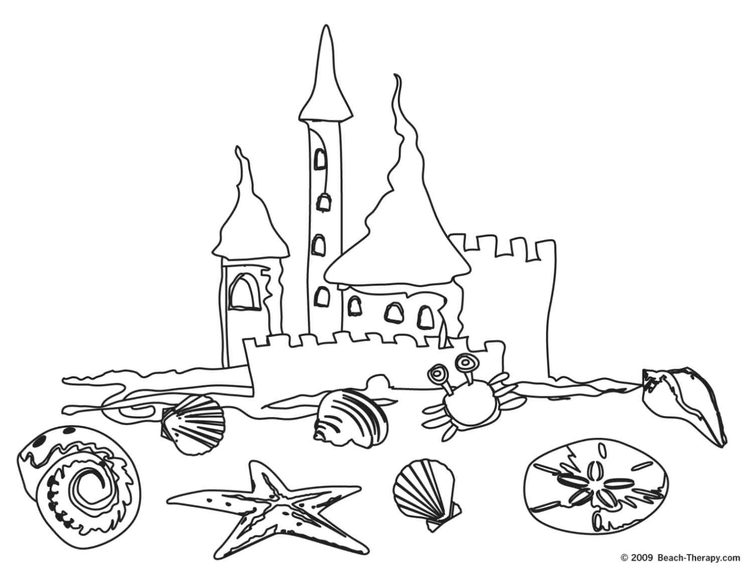 coloring pages and beach - photo#7