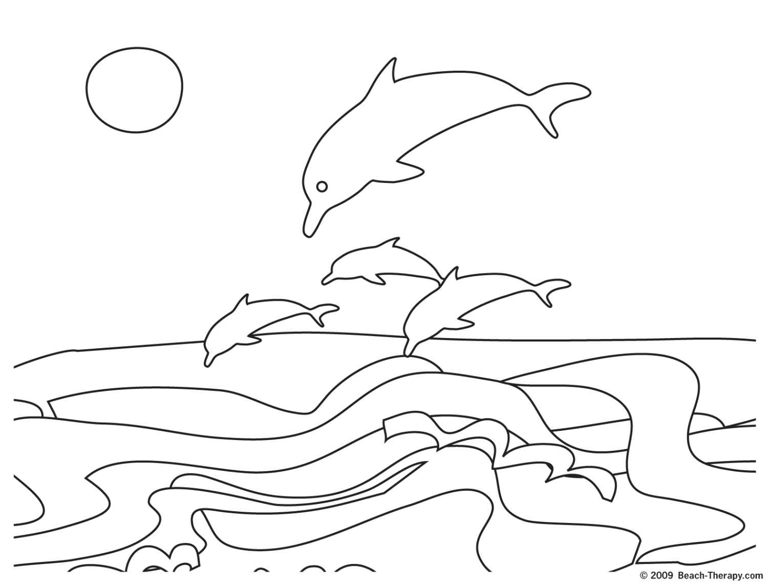 free online beach coloring pages - photo#27