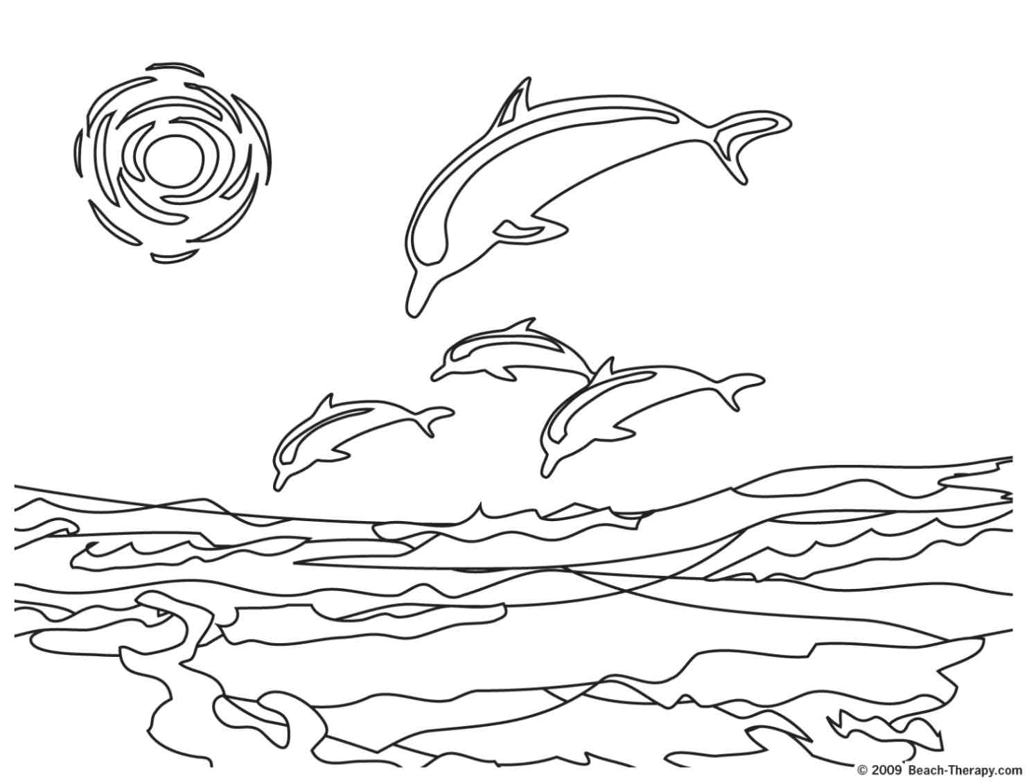 beach coloring pages - photo#2