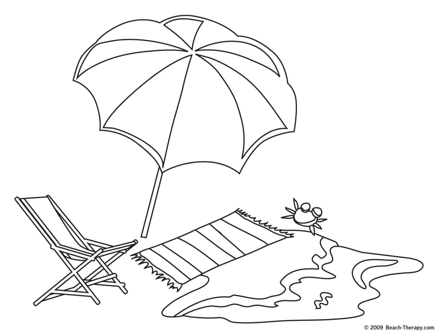 Beach Coloring Pages 7
