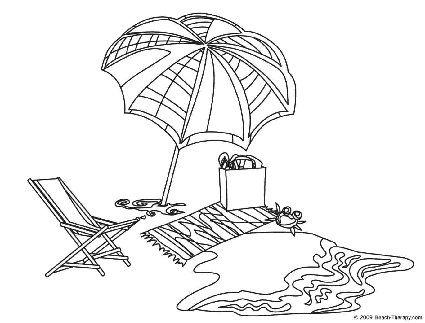 beach coloring pages - photo#20