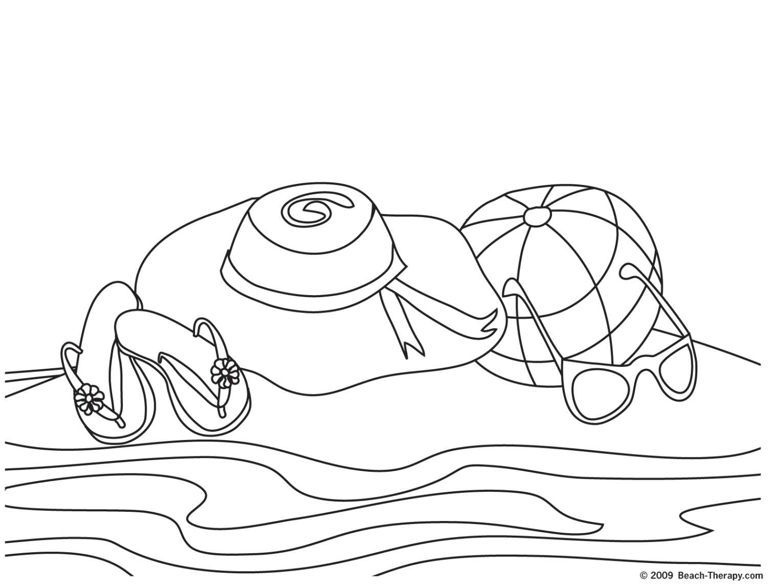 coloring pages and beach - photo#18