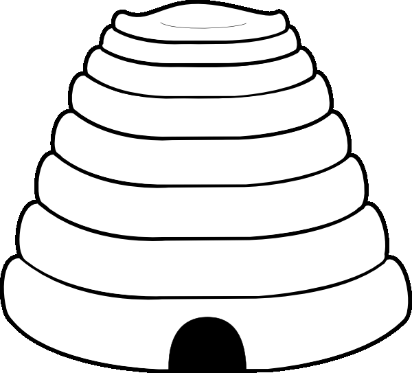 bee hive template and coloring page end of school party