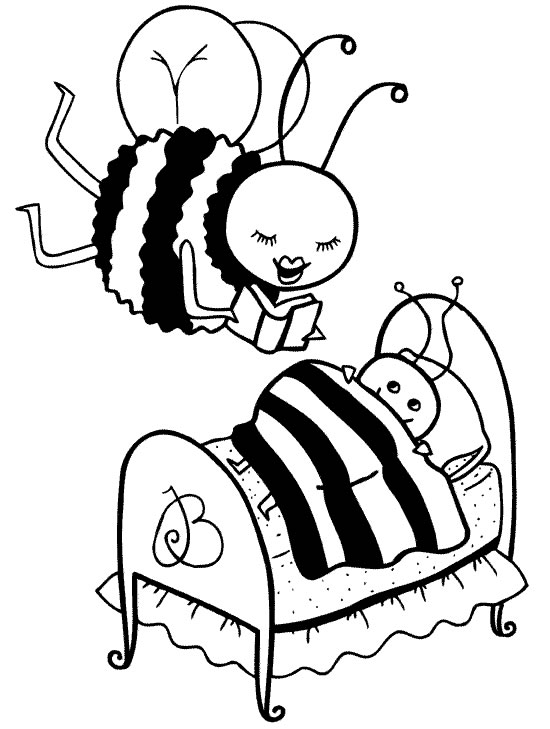 Bee Coloring Pages Coloring Pages To Print