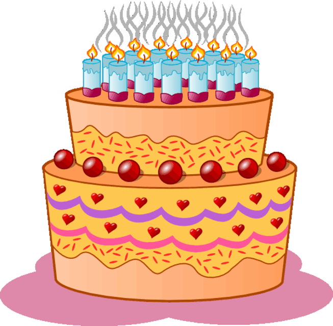 Cake Images Print : Birthday cake clipart Coloring Pages To Print