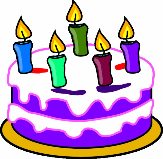 Clipart Birthday Dancing Cake : Birthday cake clipart Coloring Pages To Print