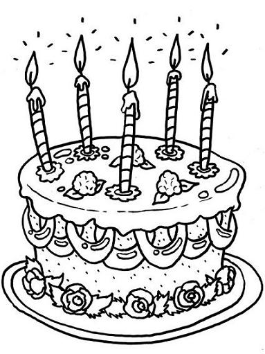 birthday coloring pages 2