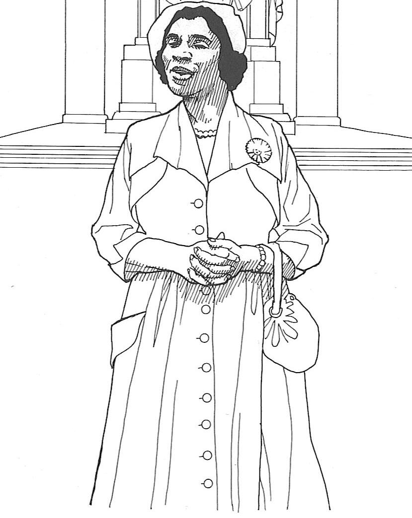 black history coloring pages 3 - Black History Coloring Pages