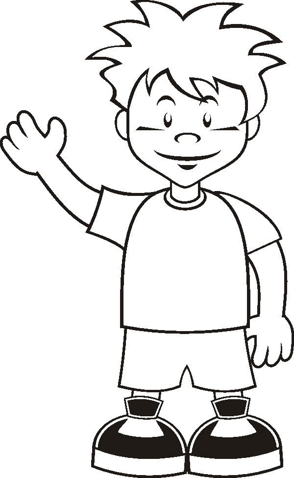 a boy coloring pages - photo #2