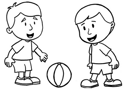 Boy Coloring Pages 2