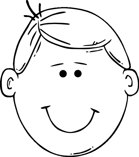 boy face colouring pages
