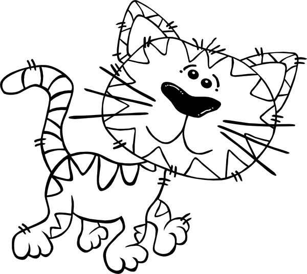 birthday cat coloring pages - photo#9
