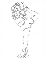 cheerleading coloring pages 2