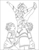 cheerleading coloring pages 3