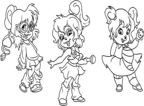 the chipettes coloring pages free - photo#29