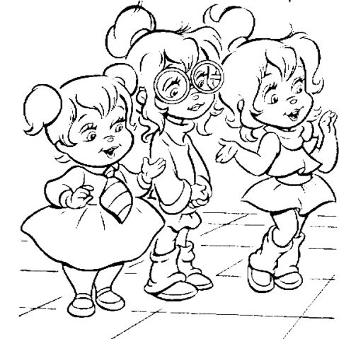 Chipettes coloring pages 3
