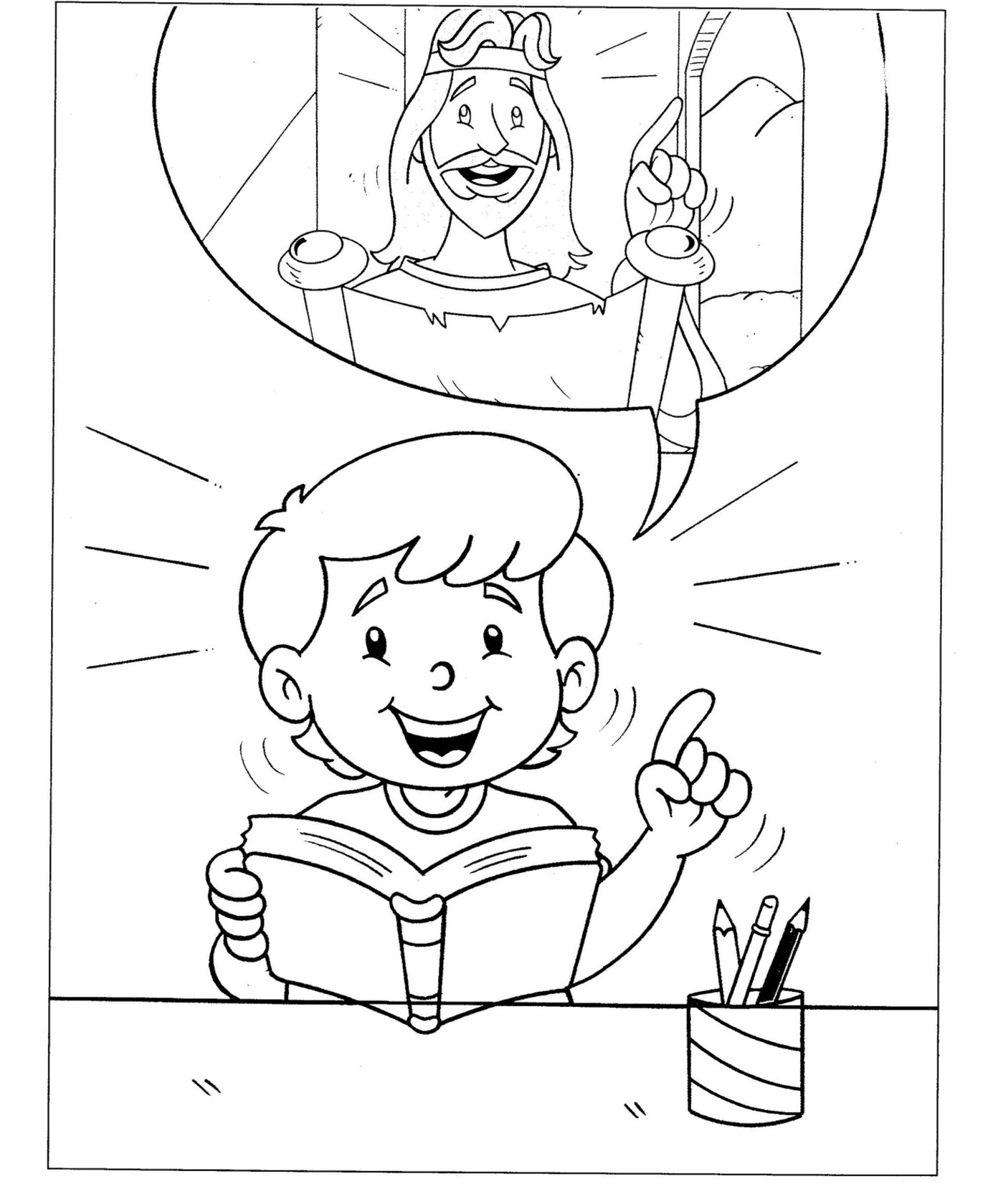 christian coloring pages 2 - Christian Coloring Pages Print