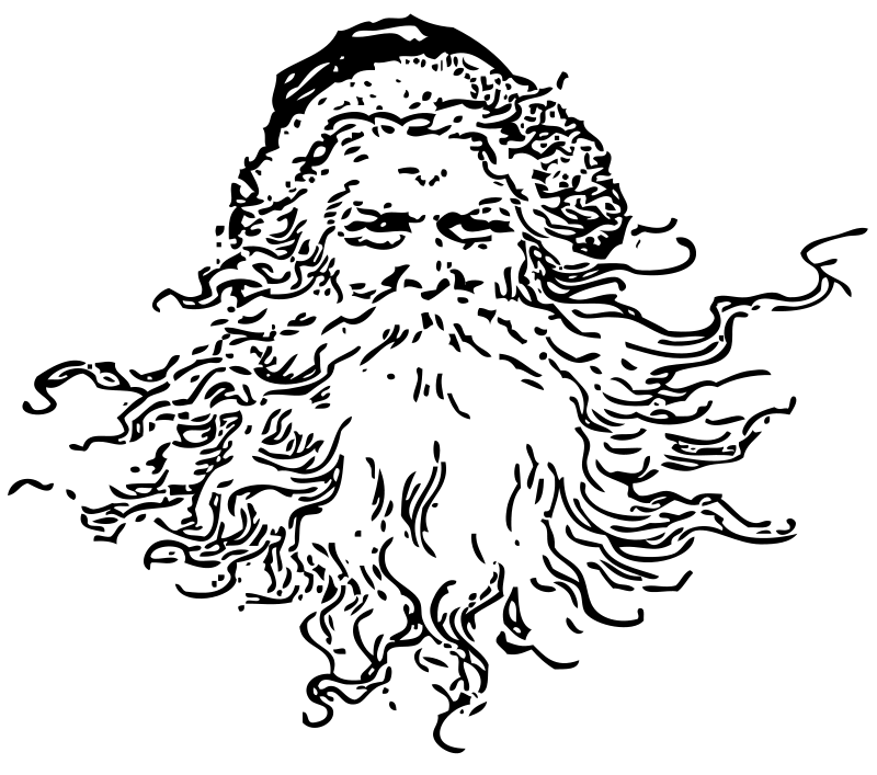 free black and white santa clipart - photo #41