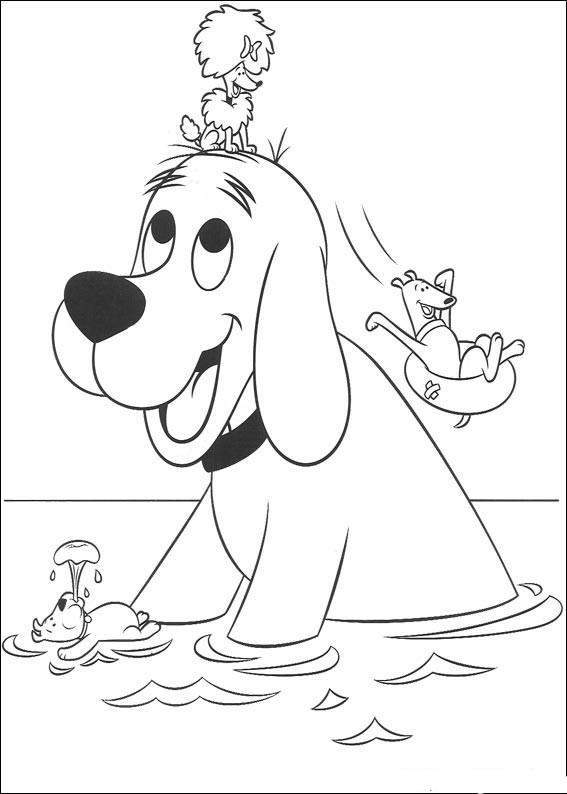 clifford coloring pages children - photo#9
