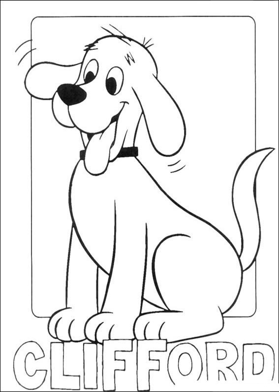 printable clifford coloring pages - photo#1