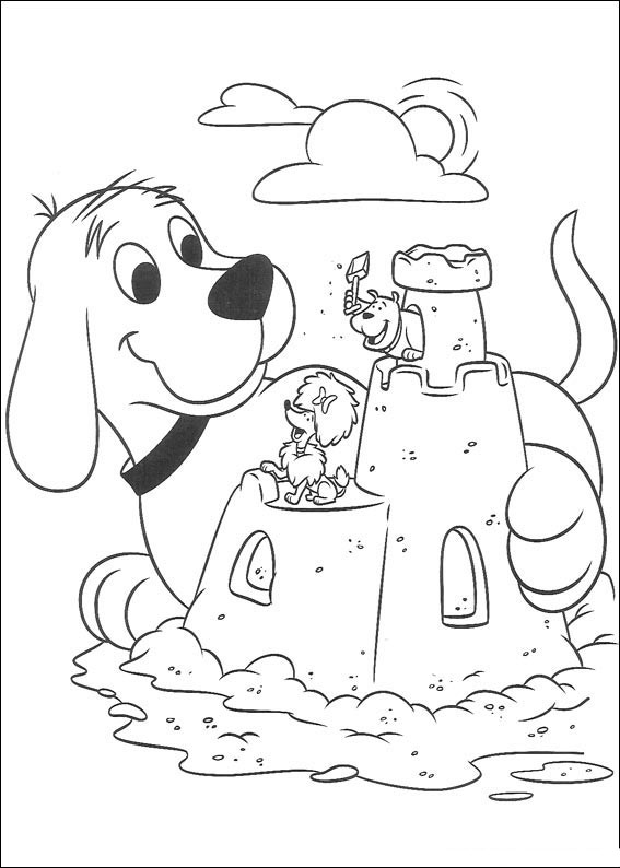 clifford coloring pages children - photo#2