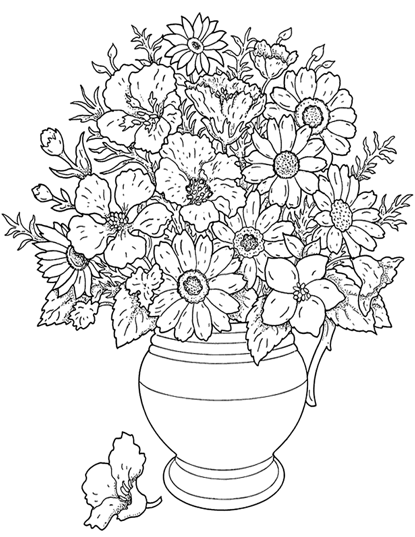Coloring Pages Of Flowers 3 Coloring Pages To Print Printable Flowers Coloring Pages