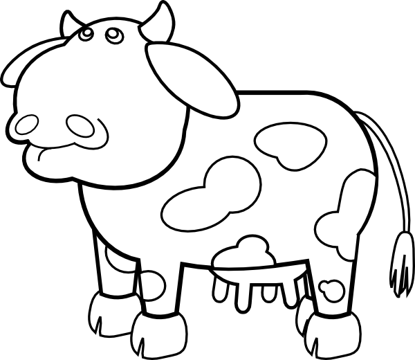 painting cow coloring pages - photo#30