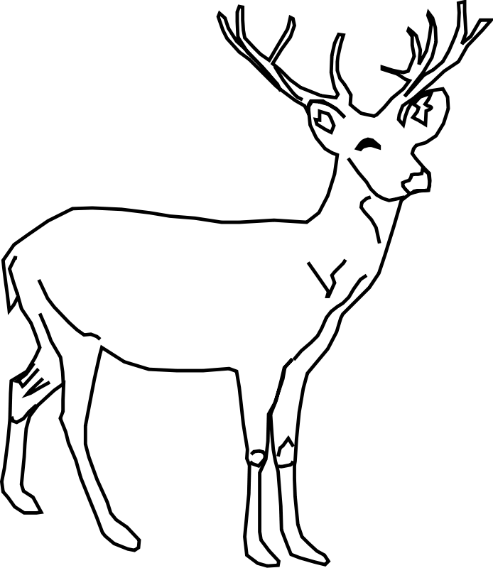 deer coloring pages - photo#5