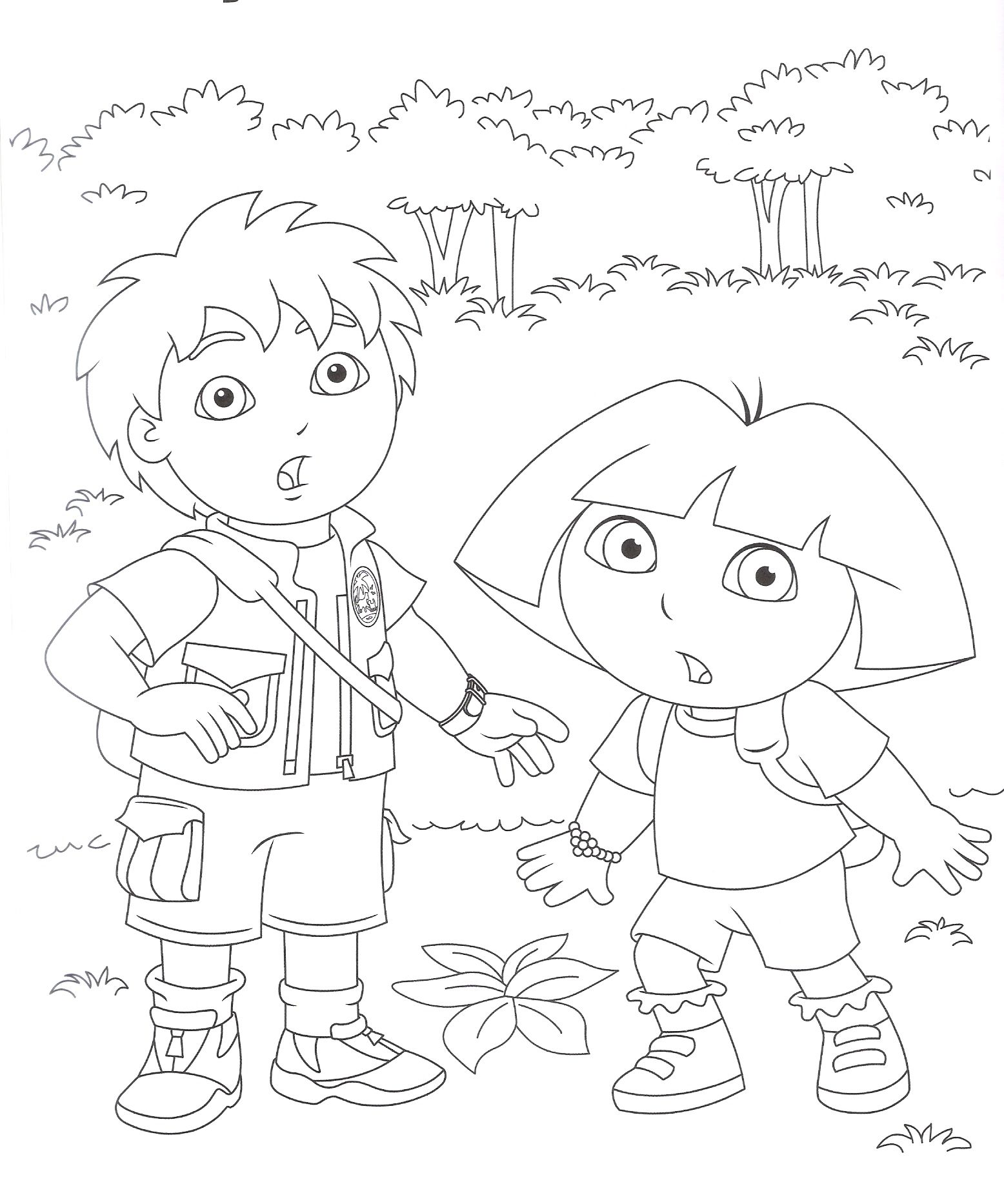 free download dora coloring pages - photo#17