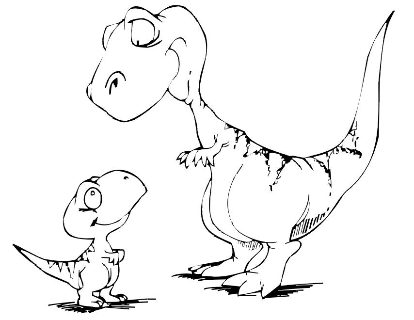 Dinosaur Coloring Pages 4