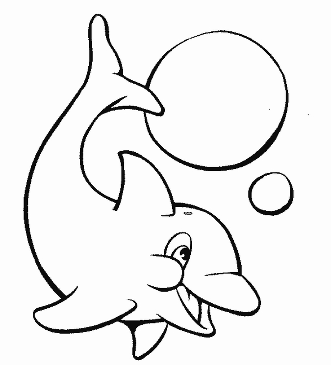 dolphin coloring pages 2