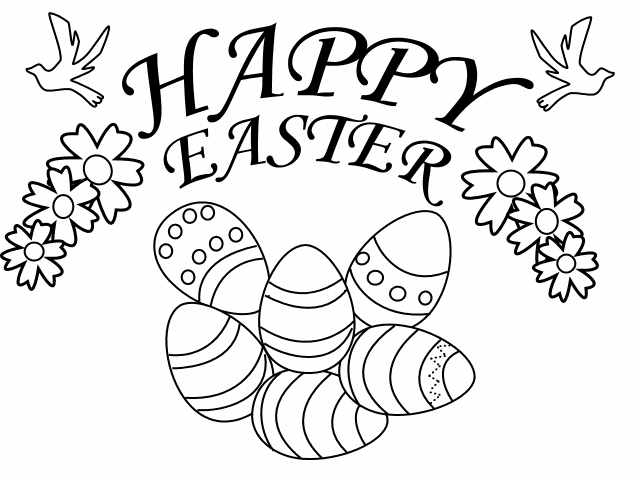 Easter Coloring Sheets 2