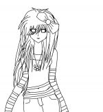emo coloring pages 3