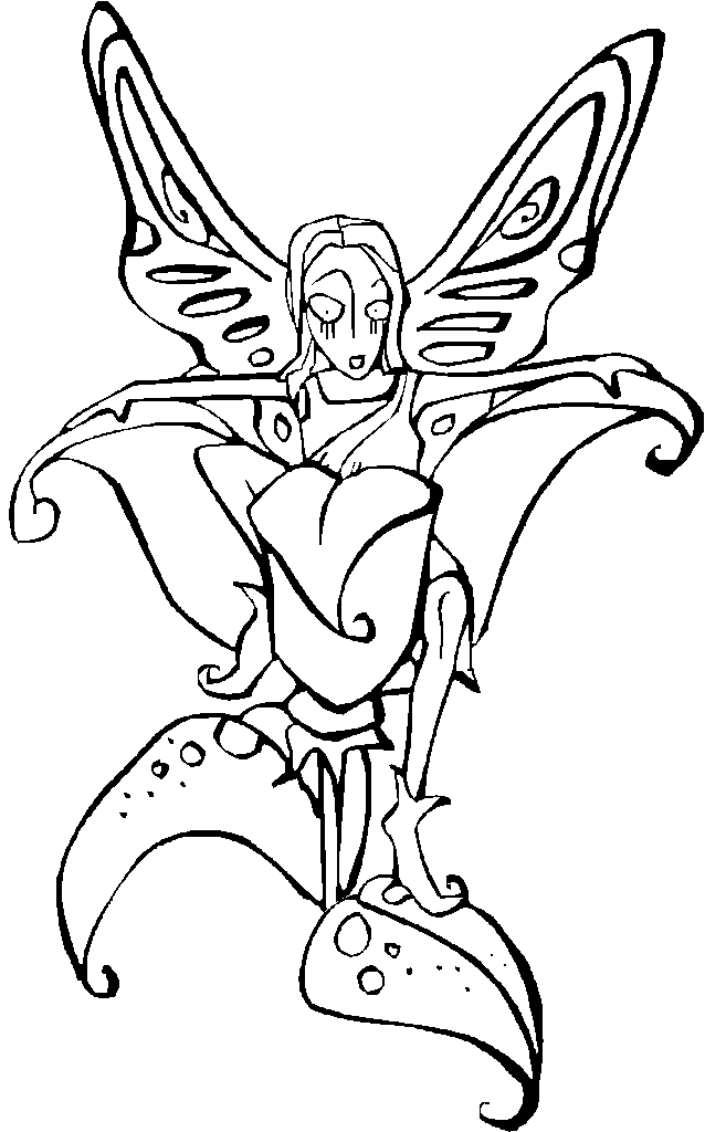 fairy and flower coloring pages - Coloring Pages Fairies Flowers