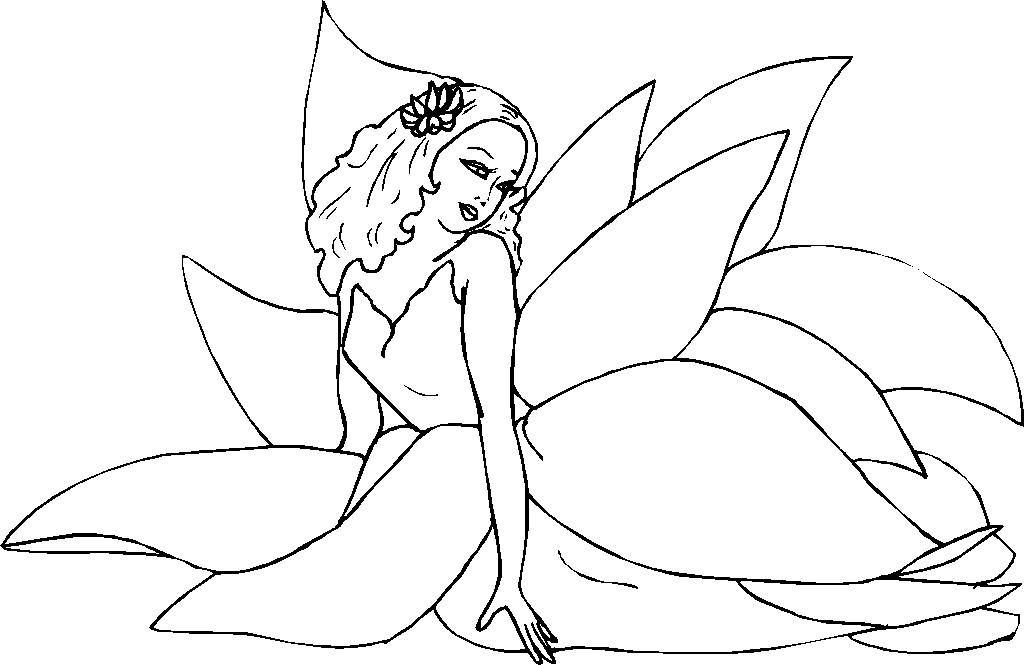 coloring pages of fairies - photo#36