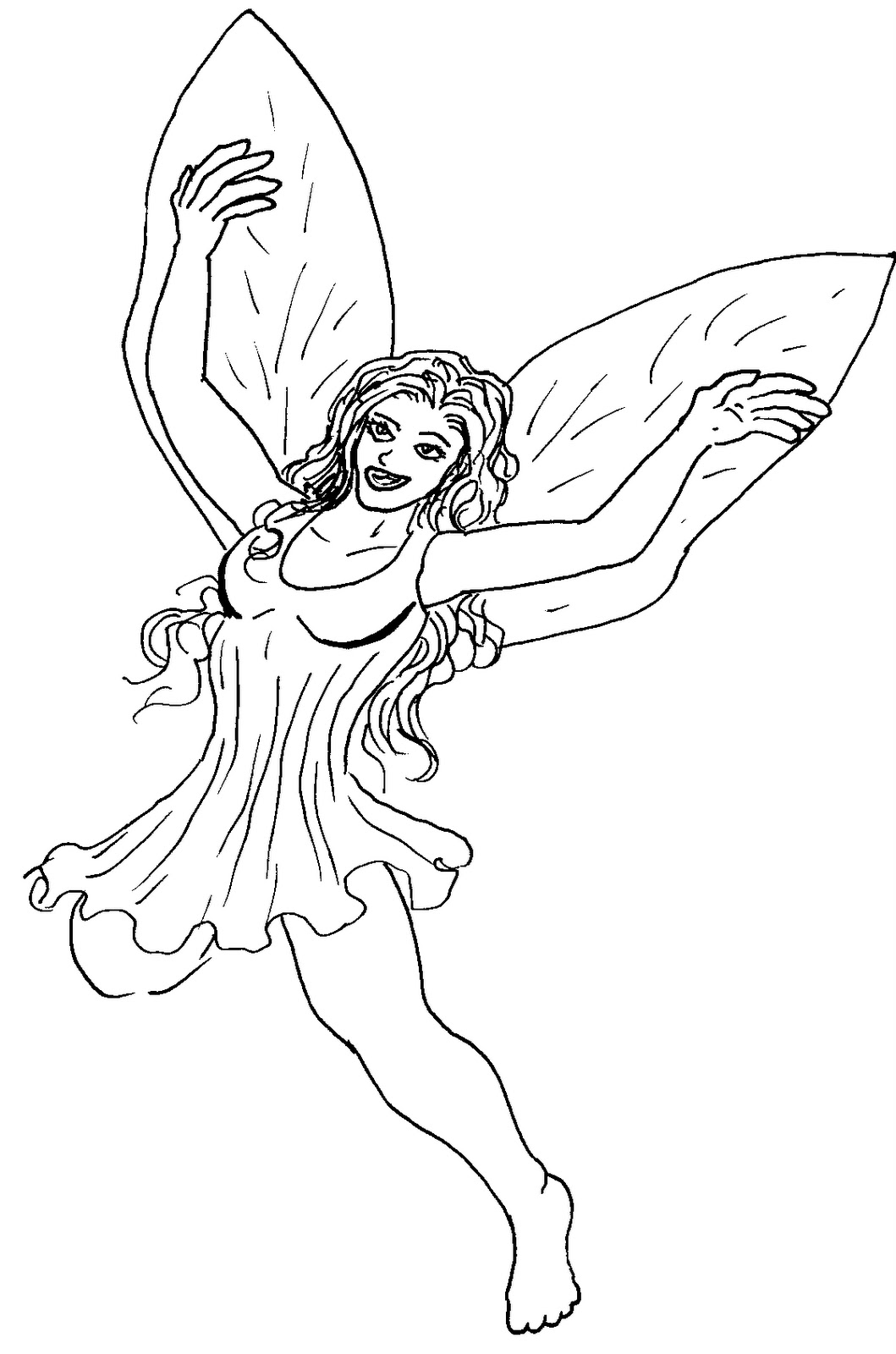 printable fairie coloring pages - photo#23