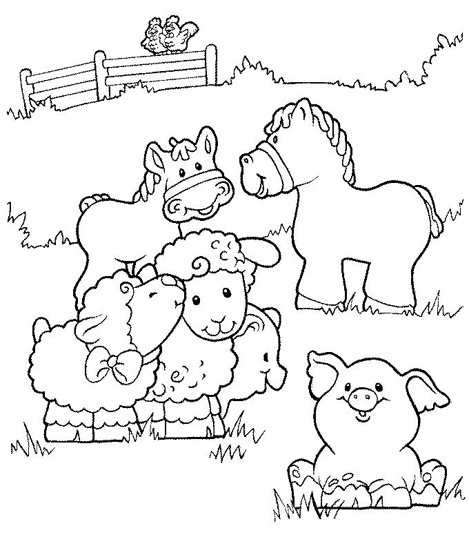 Colouring Pages For Farm Animals : Farm coloring pages to print