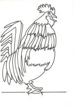 rooster farm coloring pages